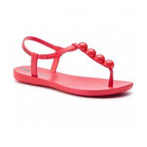 Ipanema Flip-flops T-Strap Pearl Flat Sandals Red